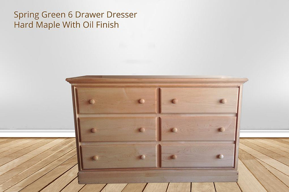 [CUSTOM] spring green 6 drawer dresser