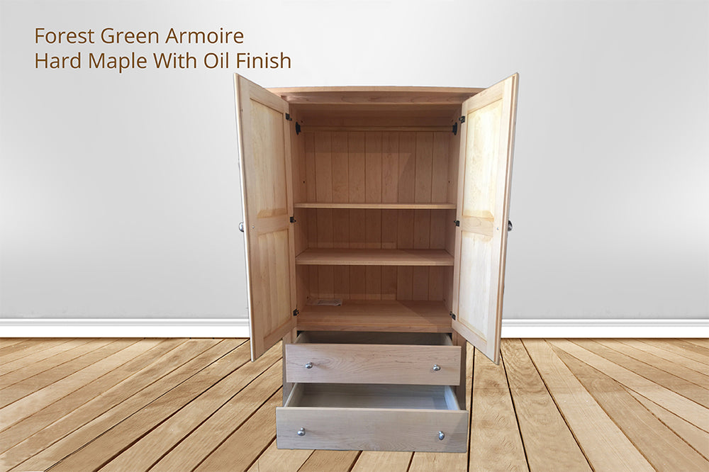 forest green armoire
