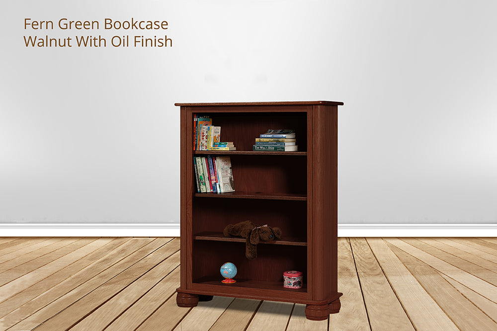 fern green bookcase