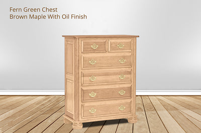 fern green 6 drawer chest