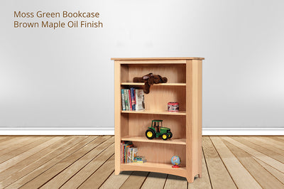 moss green bookcase