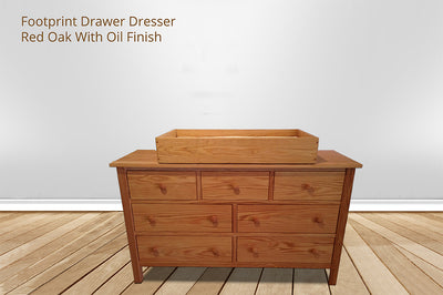 Changing Table Dresser Combo | Footprint Dresser Table | Green Cradle