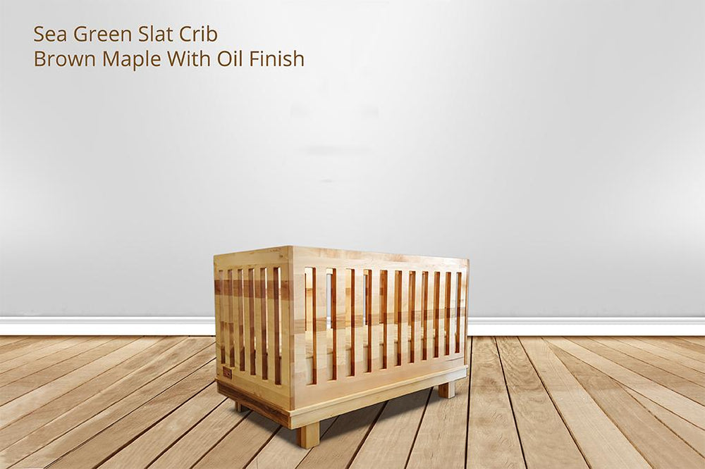 [CUSTOM] sea green slat crib