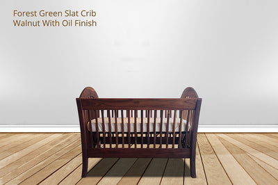 forest green slat crib