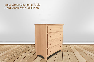 Moss Green Changing Table