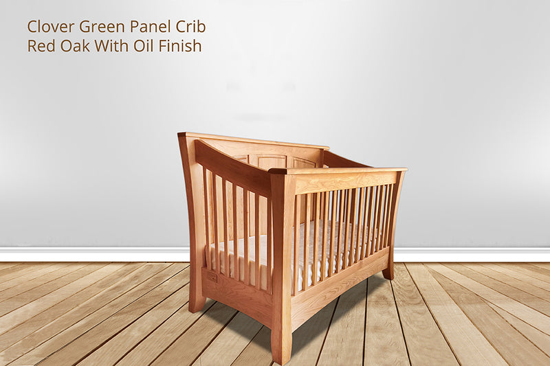 clover green panel crib