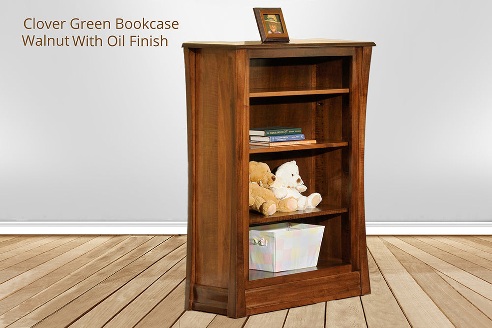 clover green bookcase