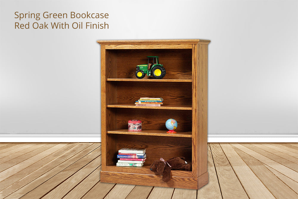 spring green bookcase