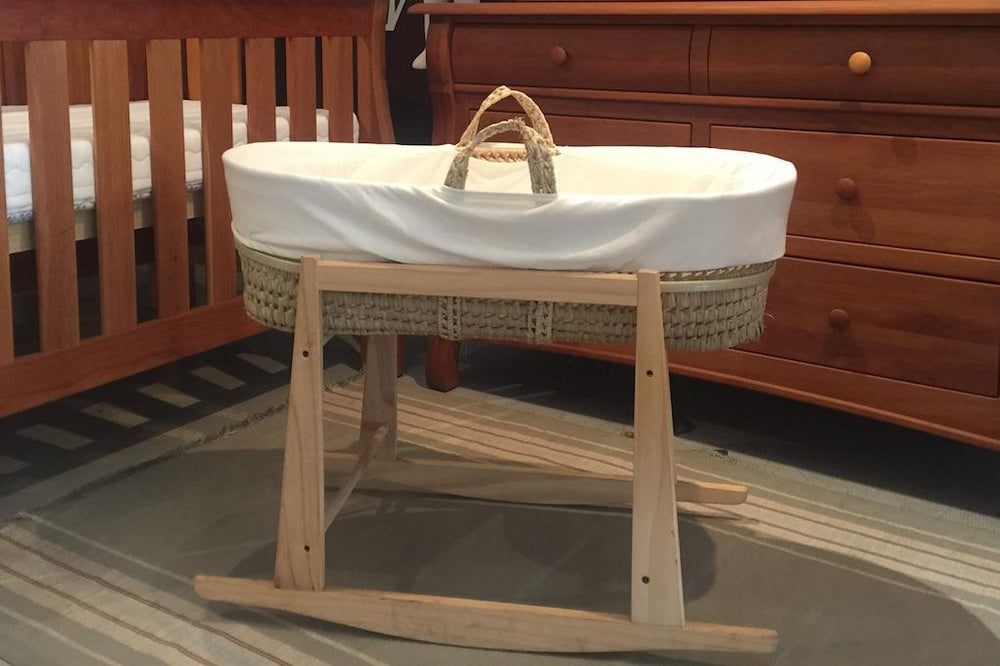 [CUSTOM] organic moses basket 4 piece set