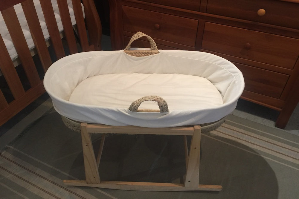 organic moses basket 4 piece set