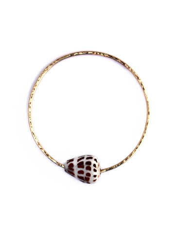 ❂ CONE SHELL BANGLE - gold ❂