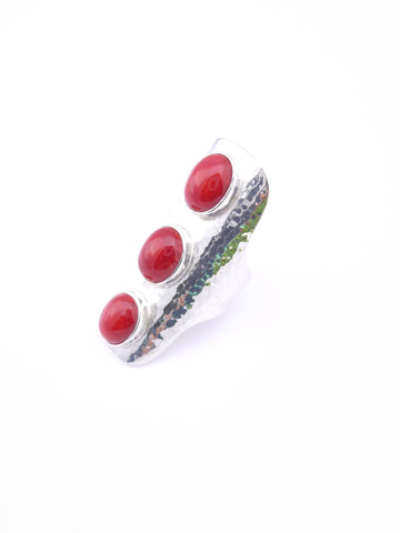 ☼ RED CORAL SADDLE RING ☼ SALE!!!