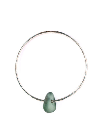 ❂ BLUE SEAGLASS BANGLE ❂