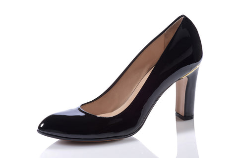 Sanida Carroll Pentro Comfortable High Heels - Black Patent