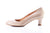 Sanida Carroll Catria Comfortable Mid Heels - Beige Patent (side left)