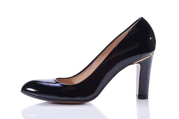 Sanida Carroll Pentro Comfortable High Heels - Black Patent (left)