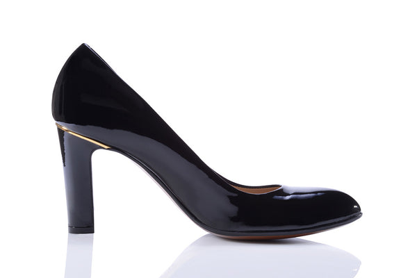 Sanida Carroll Pentro Comfortable High Heels - Black Patent (right)