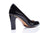 Sanida Carroll Pentro Comfortable High Heels - Black Patent (back)