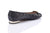 Sanida Carroll Giara Black Napa Quilt Comfortable Flats (back)