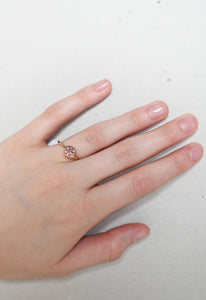 Pink Topaz Scroll Ring
