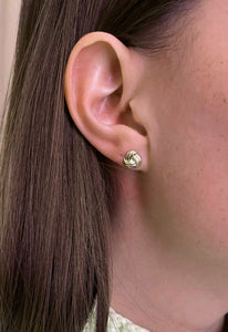 Solid 14K Gold Knot Stud