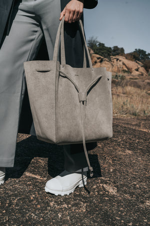 Grey Shopper Bag