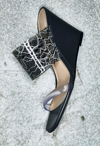 Olympia Wedge Black Lace