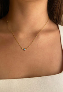 Dainty Opal and Crystal Necklace