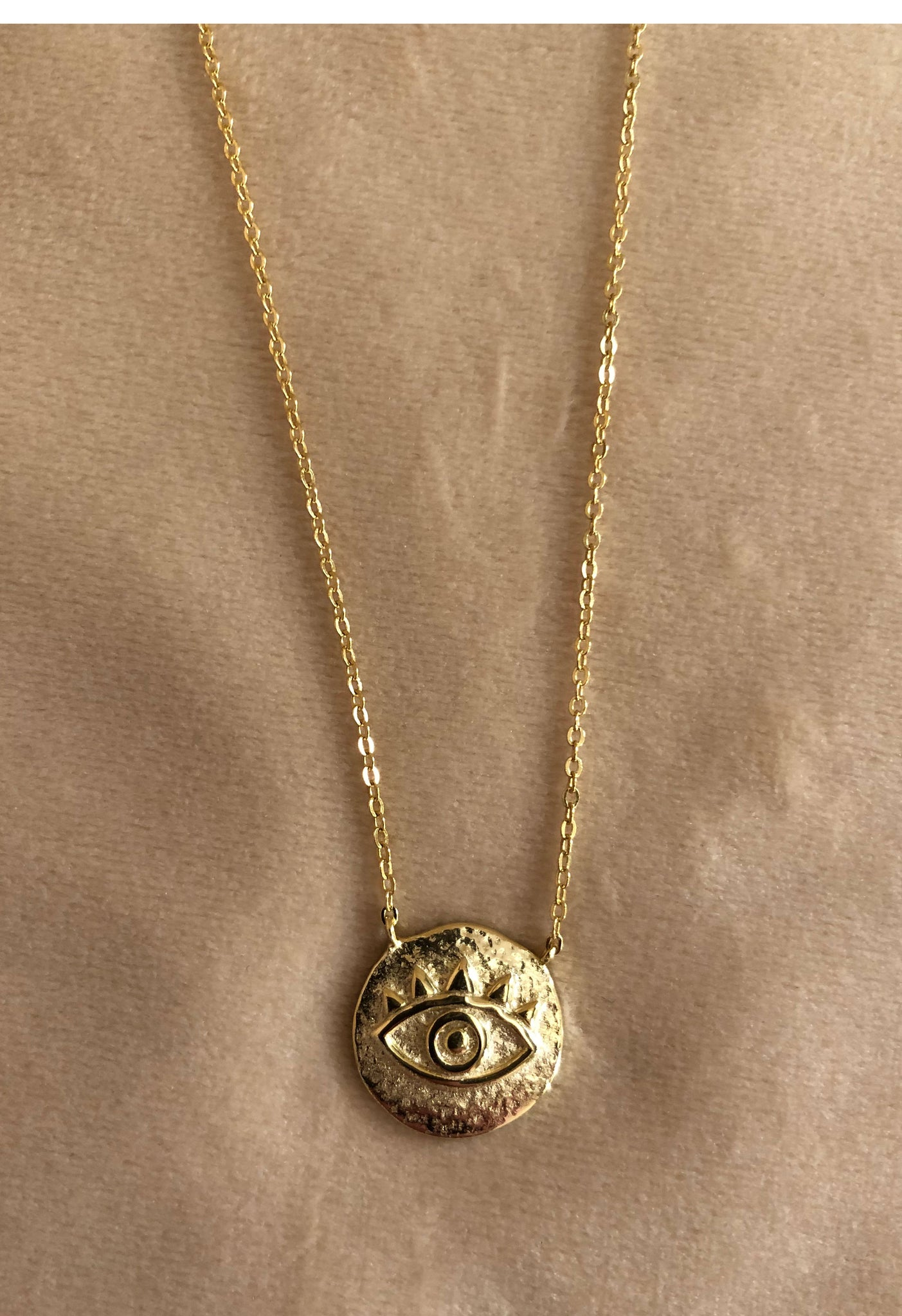 Small Evil Eye Coin Necklace