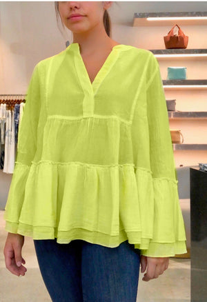 Armonia Blouse in Lime