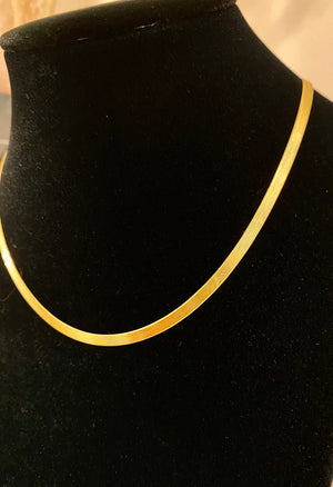 Thin Herringbone Necklace