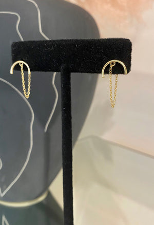 Semi Circle Chain Earrings