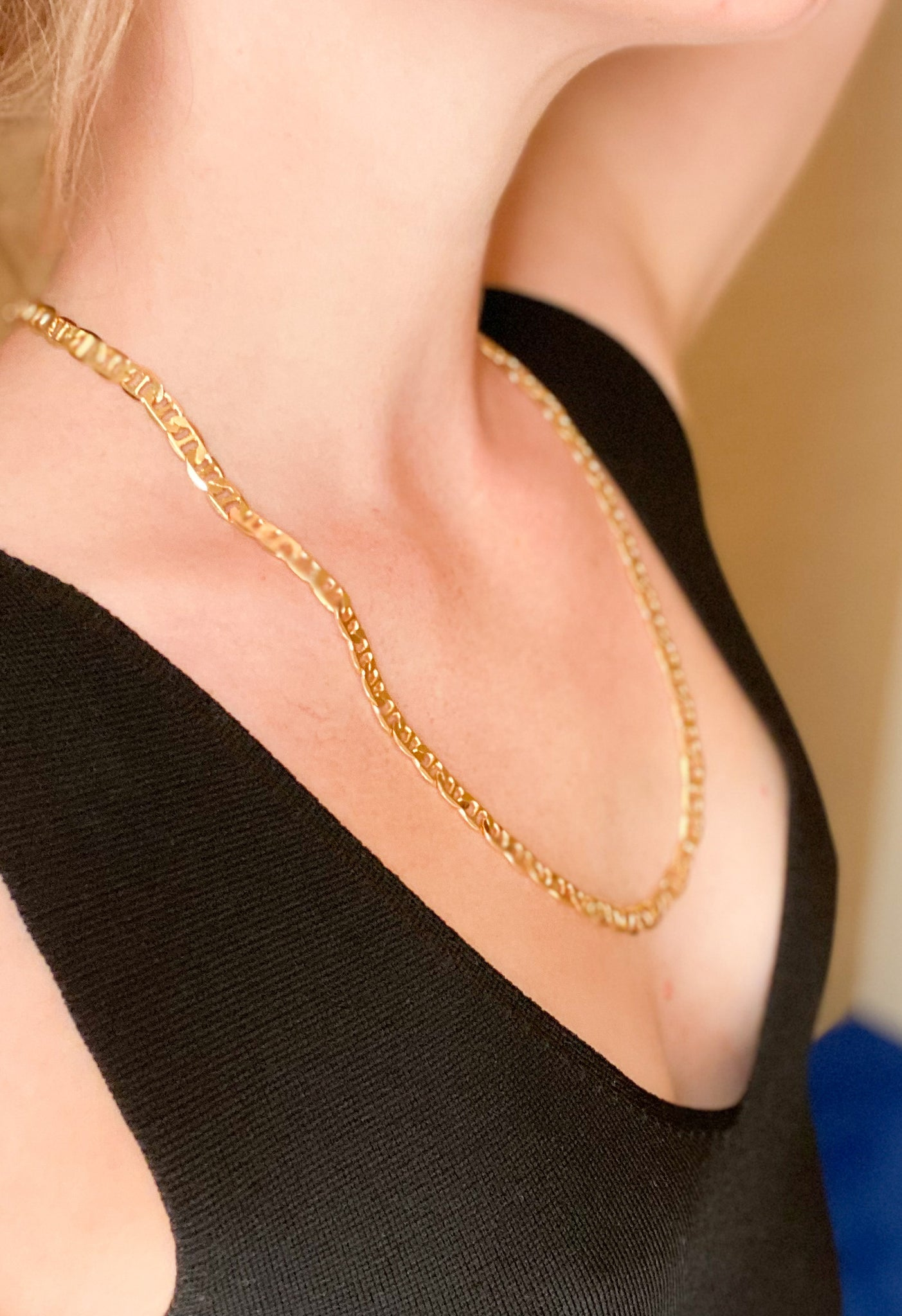 Anchor Chain Gold Necklace