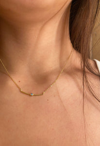 Gold Bar Opal Necklace