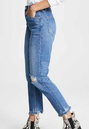 Constance Straight Jeans - Sweet Emotion Destroyed