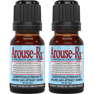 Arouse-Rx Unscented Pheromones for Men 2 Bottles
