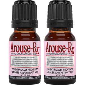 Arouse-Rx Unscented Pheromones for Women 2 Bottles