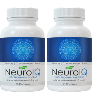 2 bottles of NeuroIQ Nootropic Brain Supplement Pills