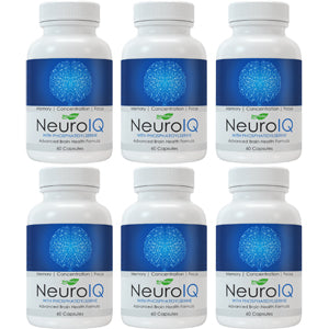 6 bottles of NeuroIQ Nootropic Brain Supplement Pills