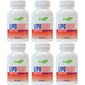 6 bottles of LipoBlast Brazilian Best Weight Loss Pill