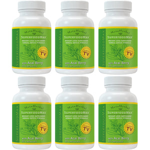 6 bottles of Superfood Max with 14 Diet Foods: Superfood Supplement w/Acai Berry