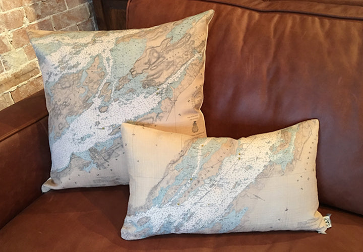 Thousand Islands Chart Pillows