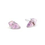 Small Gemstone Kite Stud Earrings in Sterling Silver