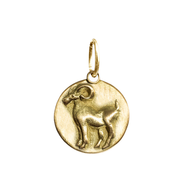 Aries Zodiac Charm in 18K Gold