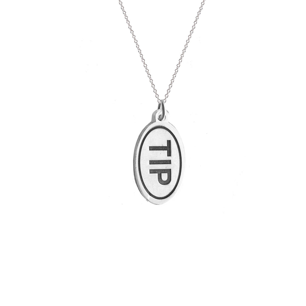 T. I. Park Bumper Sticker Necklace