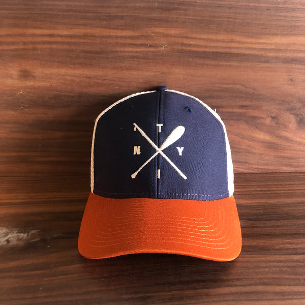 Boat Hook and Paddle Mesh Back Trucker Hat