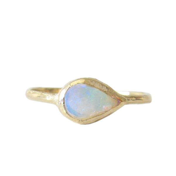 Compass Opal Ring in 14K Yellow Gold