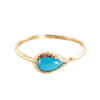 Compass Turquoise Ring in 14K Yellow Gold