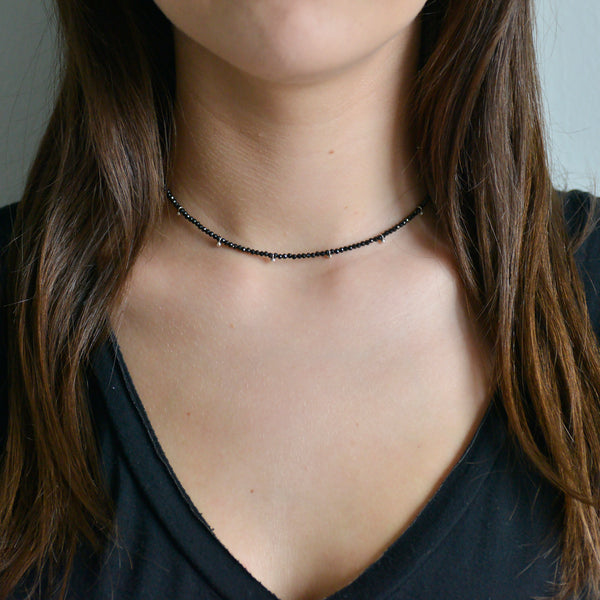Half-Beaded Gemstone Choker