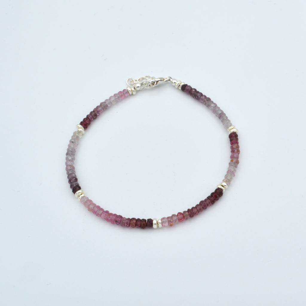 Small Rondelle Beaded Gemstone Bracelet Workshop (Wednesday, July 10th)